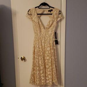 Cream rose lace dress